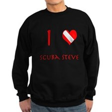 I Love Scuba Steve (red) Sweatshirt