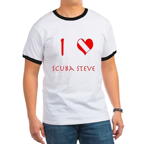 I Love Scuba Steve (red) Ringer T
