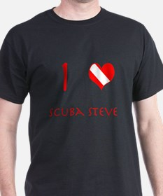 I Love Scuba Steve (red) T-Shirt