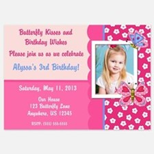 Pink Butterfly Birthday Invitation Invitations