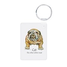 Bulldogs love Cats Keychains