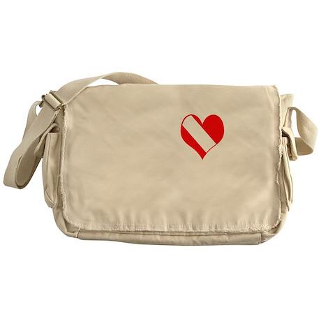 I Love Scuba Steve (white) Messenger Bag