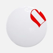 I Love Scuba Steve (white) Ornament (Round)