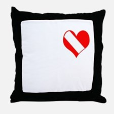 I Love Scuba Steve (white) Throw Pillow