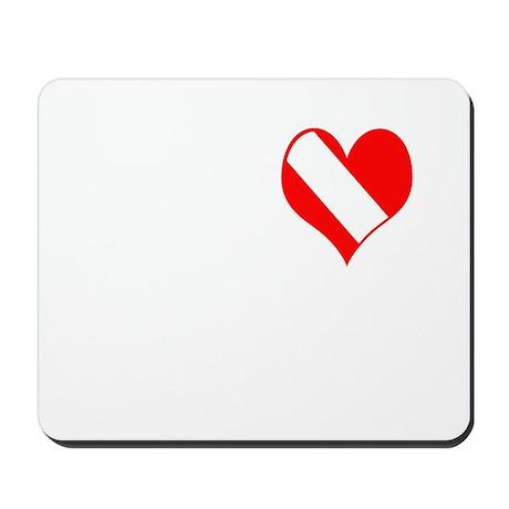 I Love Scuba Steve (white) Mousepad
