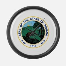 Indiana State Seal Large Wall Clock