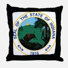 Indiana State Seal Throw Pillow