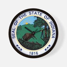 Indiana State Seal Wall Clock