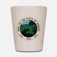 Indiana State Seal Shot Glass