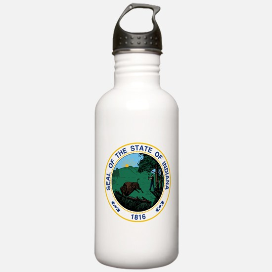 Indiana State Seal Water Bottle