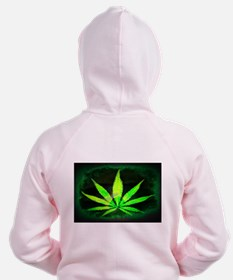 Dark Grunge Weed Zipped Hoody