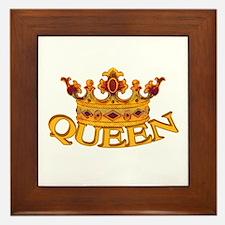 QUEEN crown Framed Tile
