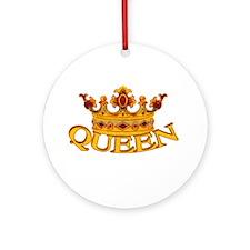 QUEEN crown Ornament (Round)