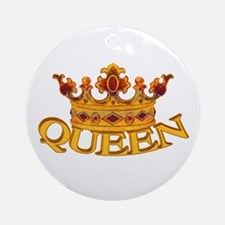 QUEEN crown Ornament (Round)