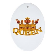 QUEEN crown Oval Ornament