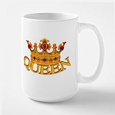 QUEEN crown Large Mug