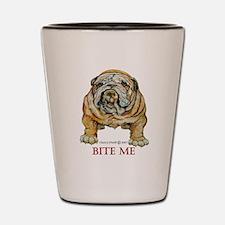 Bulldog Bite ME Shot Glass