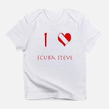 I Love Scuba Steve (red) Infant T-Shirt