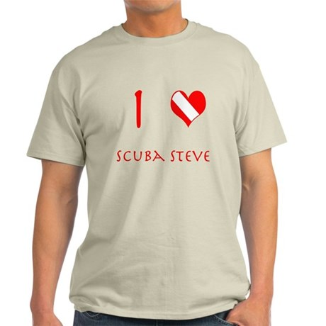 I Love Scuba Steve (red) Light T-Shirt