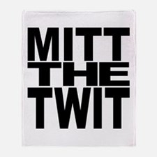 Mitt The Twit Throw Blanket