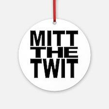 Mitt The Twit Ornament (Round)