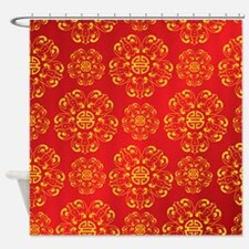 Asian Inspired Shower Curtain