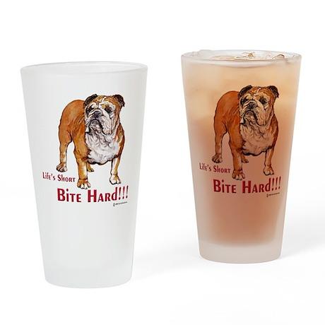 Bulldog Life Drinking Glass