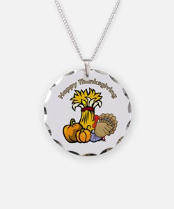 Happy Thanksgiving Pumpki... Necklace