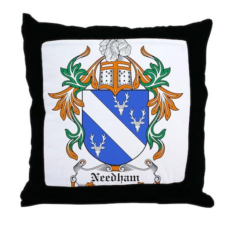 Needham Coat of Arms Throw Pillow