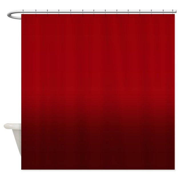 shades of red shower curtain by kinnikinnicktoo