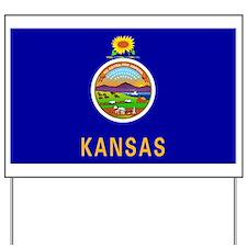 Kansas State Flag Yard Sign