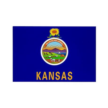 Kansas State Flag Rectangle Magnet (10 pack)