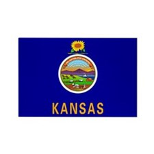 Kansas State Flag Rectangle Magnet