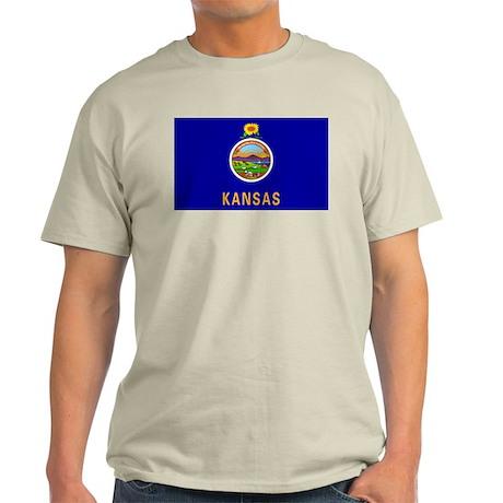 Kansas State Flag Light T-Shirt