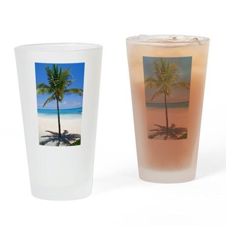 Bahamas Palm Drinking Glass