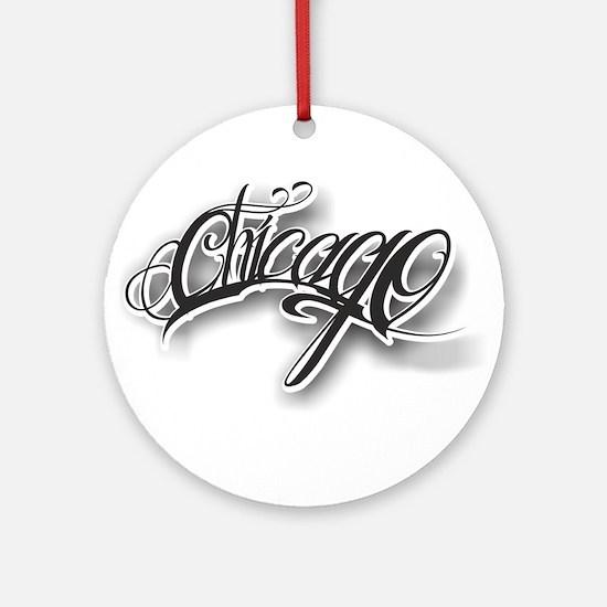 Chicago ink Ornament (Round)