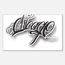 Chicago ink Sticker (Rectangle)