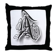 LA ink Throw Pillow