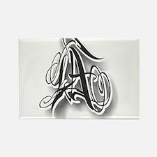 LA ink Rectangle Magnet