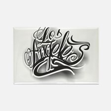 Los Angeles ink Rectangle Magnet