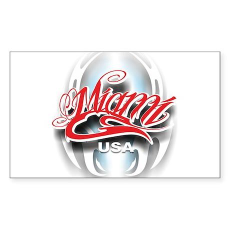 Miami ink Sticker (Rectangle)