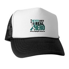 Never Knew a Hero 2 Cervical Cancer Trucker Hat
