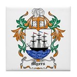 Myers Coat of Arms Tile Coaster