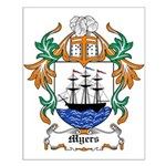 Myers Coat of Arms Small Poster