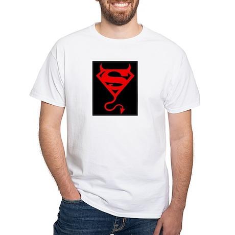 Super Satan White T-Shirt