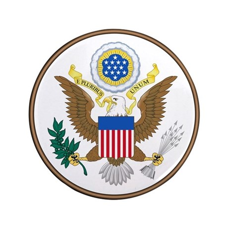 """USA Seal 3.5"""" Button (100 pack)"""