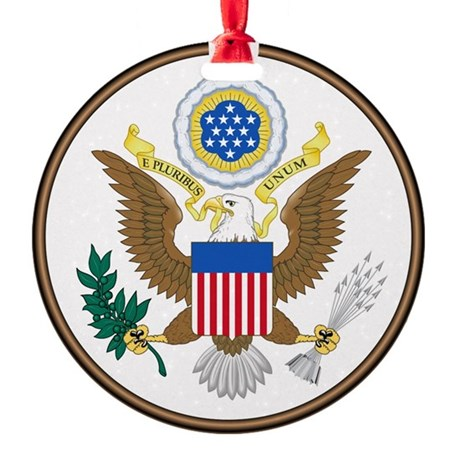 USA Seal Round Ornament