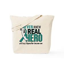 Never Knew a Hero 2 Cervical Cancer Tote Bag