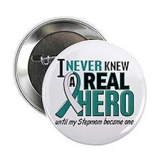 "Never Knew a Hero 2 Cervical Cancer 2.25"" Button"
