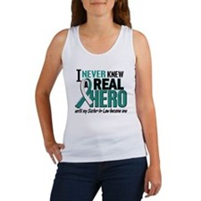 Never Knew a Hero 2 Cervical Cancer Women's Tank T